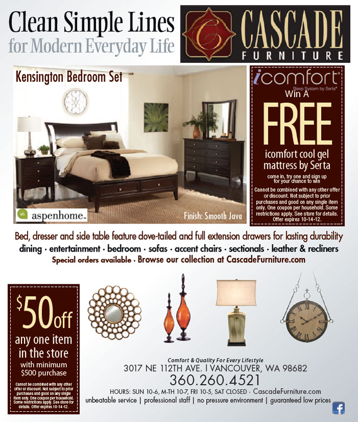 Cascade Furniture Vancouver Wa Online Information