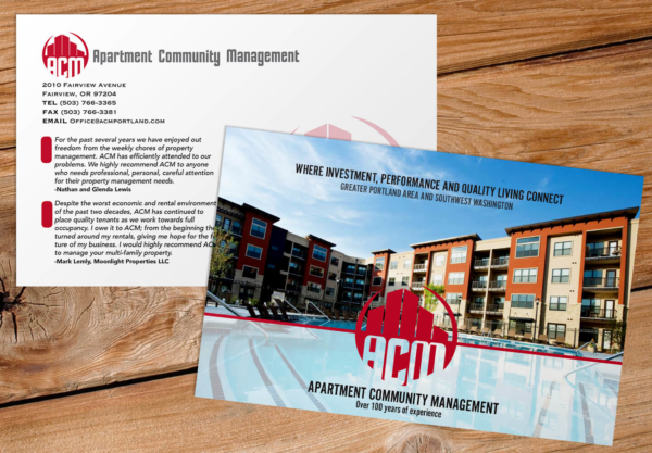 Apartment Community Management half-page fliers