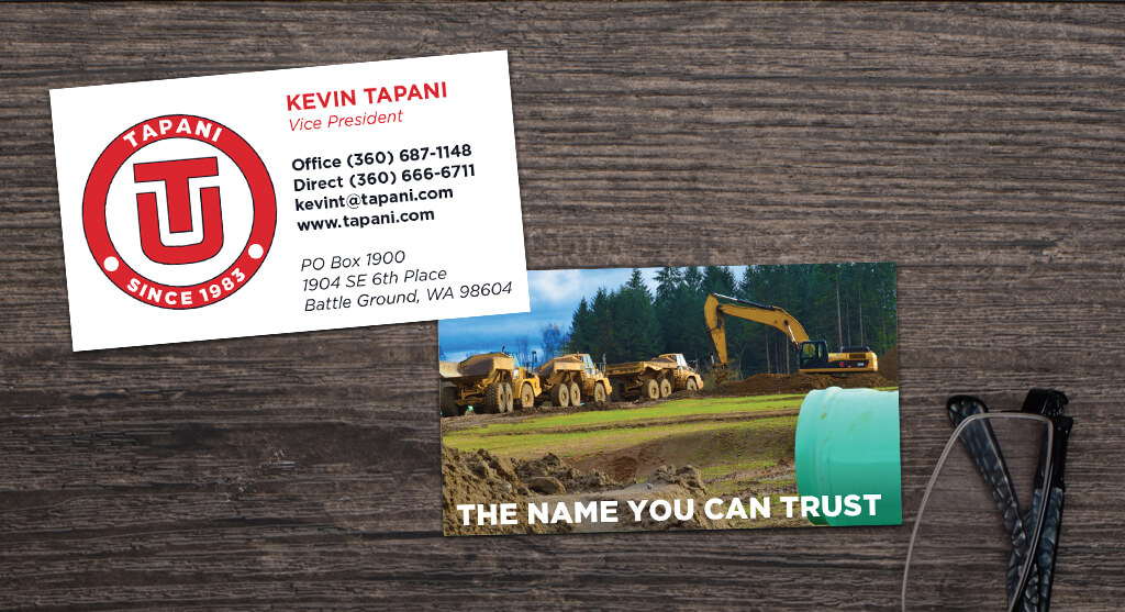Tapani business cards