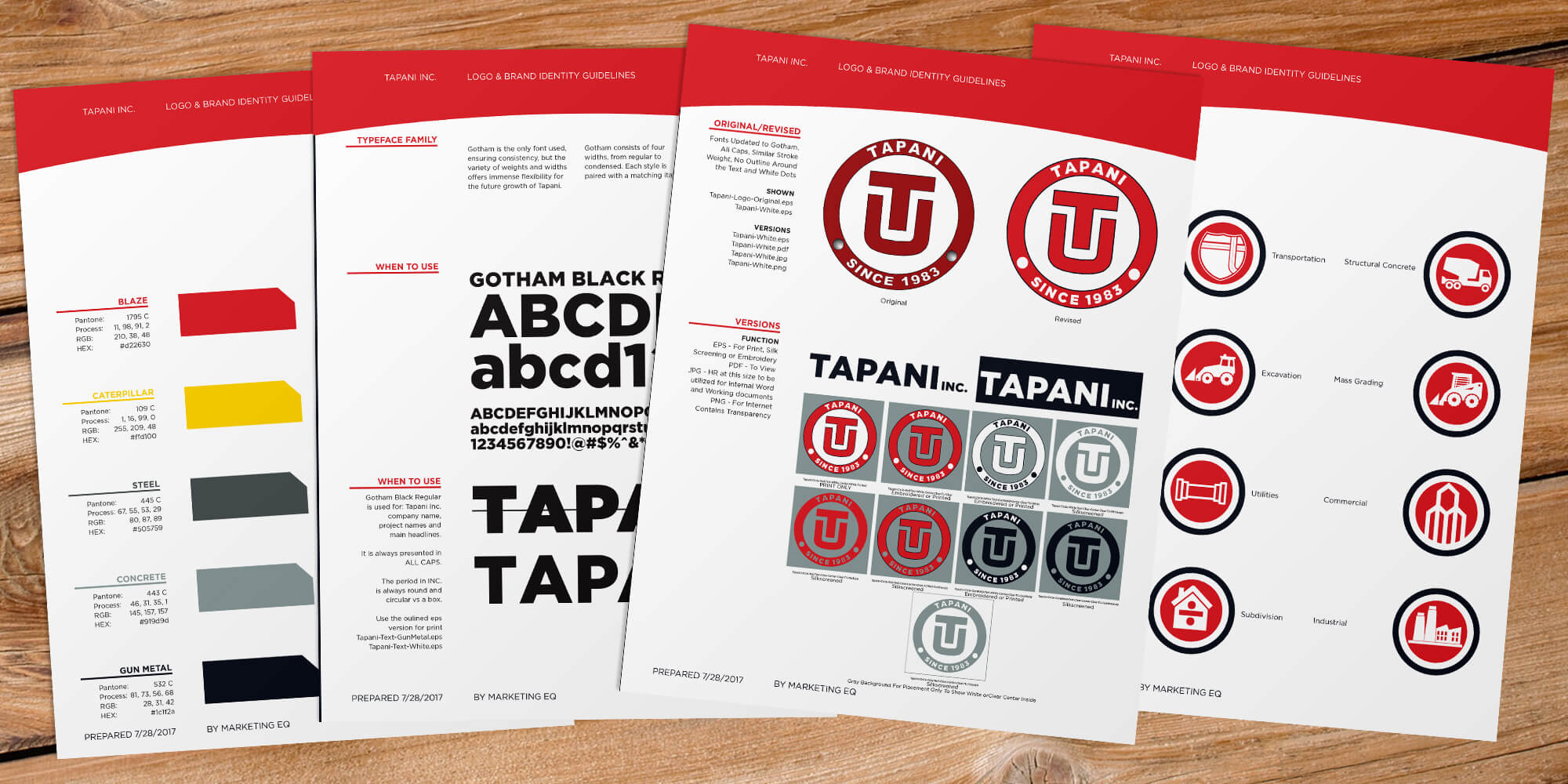 Tapani Brand Guidelines page samples
