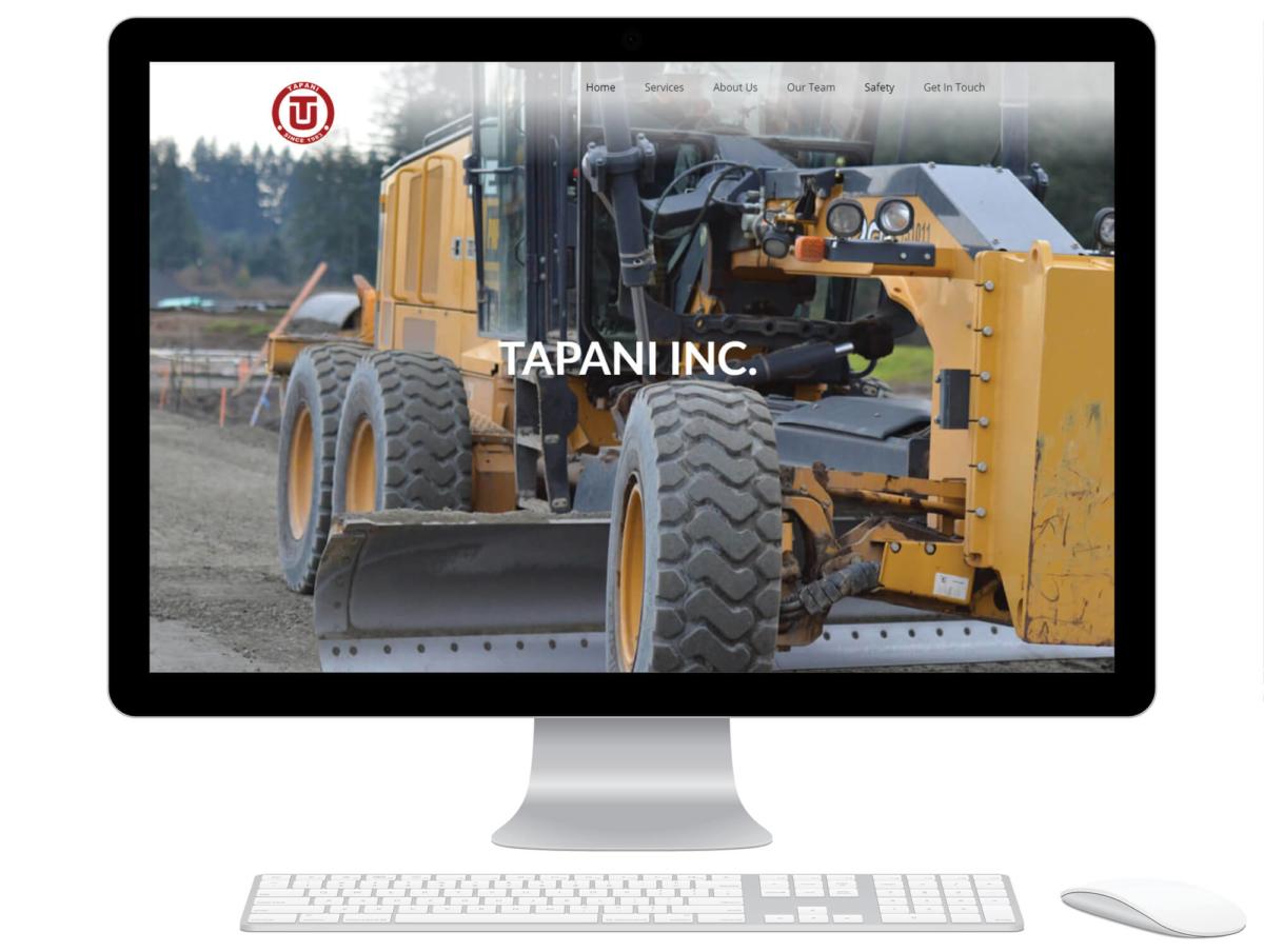 Tapani homepage displayed on a computer monitor