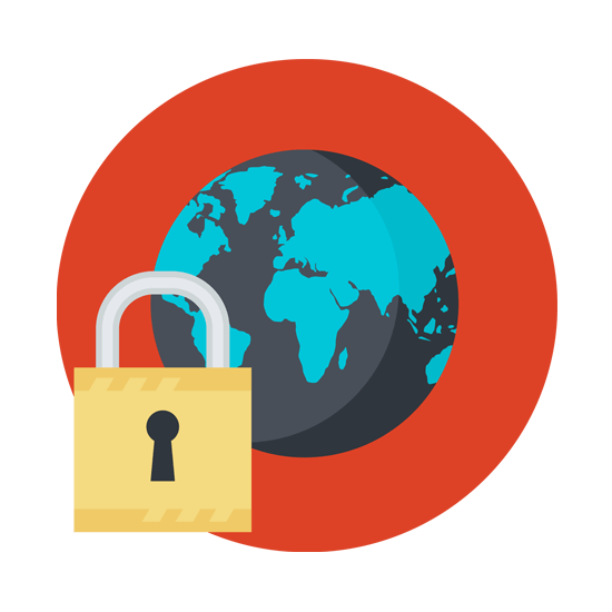 """Graphic showing """"world wide web"""" with a padlock"""